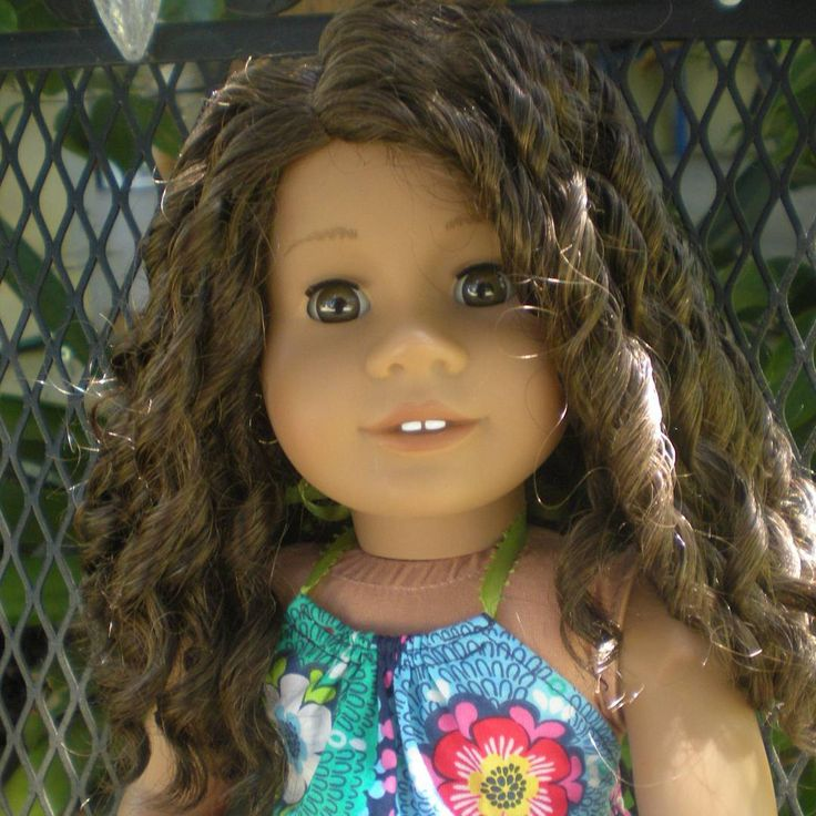 I just can't stop looking at Opal. (My favorite face mold)  She is just SO adorable! Of course if you saw her hair when I received her (poor girl)...but after a few hours of watching midnight tv while de-knotting w a pik & pencil rolling her curls...voila! An absolute beauty!  #americangirl #agig #agiger #agadultcollector #adultdollcollector #jly26 @mary.campa