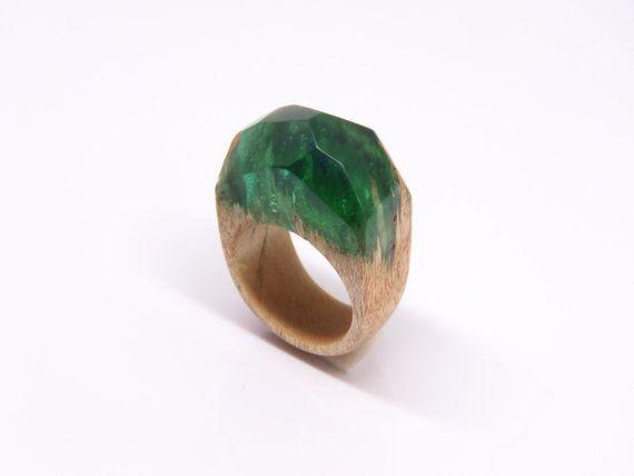 Hars houten ring houten ring ring van de groene door WoodAllGood