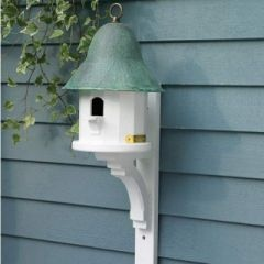birdhouse: Tops Birds, Tops Birdhouses, Birds Houses Feeders Bath, Birds Cages, Copper Roof, Lazy Hill, Copper Tops, Bird Houses, Hill Farms