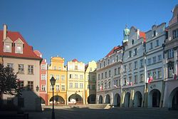 Market Square in Jelenia Góra, Poland my birthplace