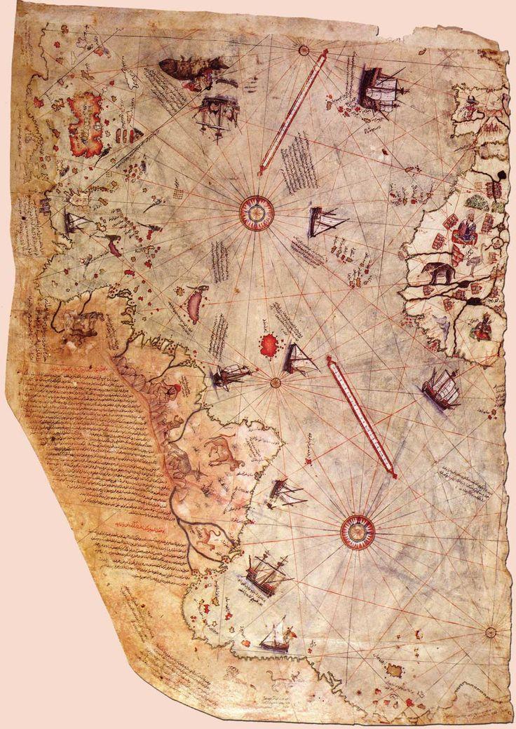 Osmanlı Amirali Piri Reis'in çizdiği ilk Dünya haritası