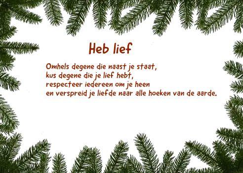 Kerstkaarten tekst van Meta van Saus