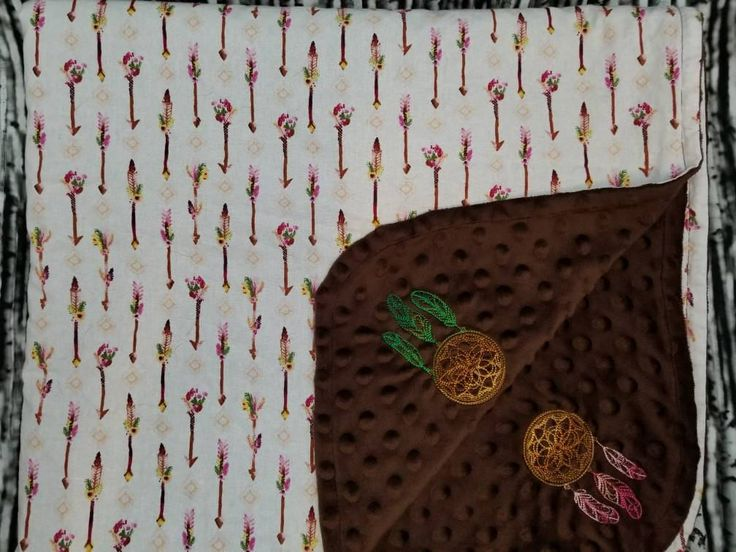 Excited to share the latest addition to my #etsy shop: Arrow baby blanket/Arrows and Dreamcatcher blanket/embroidered baby blanket/Minky baby blanket. #babyshower #cotton #minky #brown  http://etsy.me/2D4OtJ3