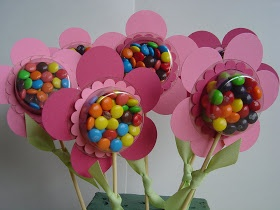 Spring Blossom Musings: Sweet Treat Cups Flower treats - Mothers Day bouquet, Garden party, great party favor