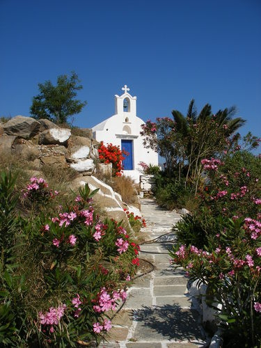 Hilltop chapel on Los Island, GREECE  I'm going to get married here.