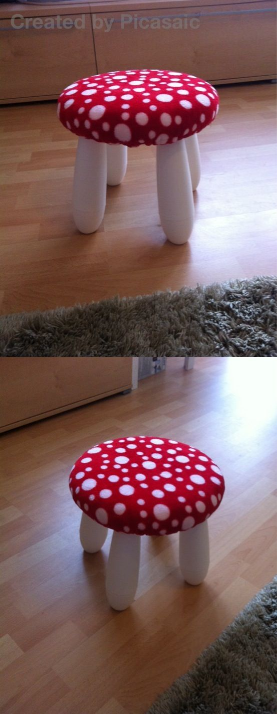 Ikea Mammut Hocker gepolstert Mushroom seat cushion