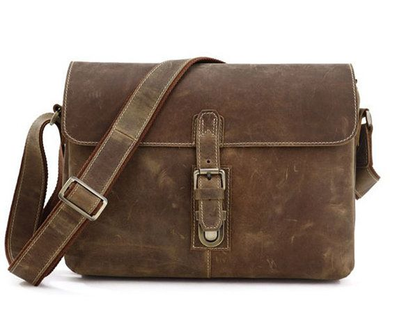 Men's Crazy Horse Leather Bag Cowhide Bag Genuine by guatiantian, $88.99