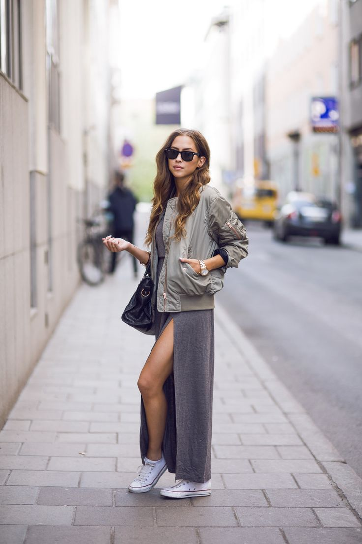Basically looks like this dress denim jacket converse example - Casual Maxi Dress Kenza