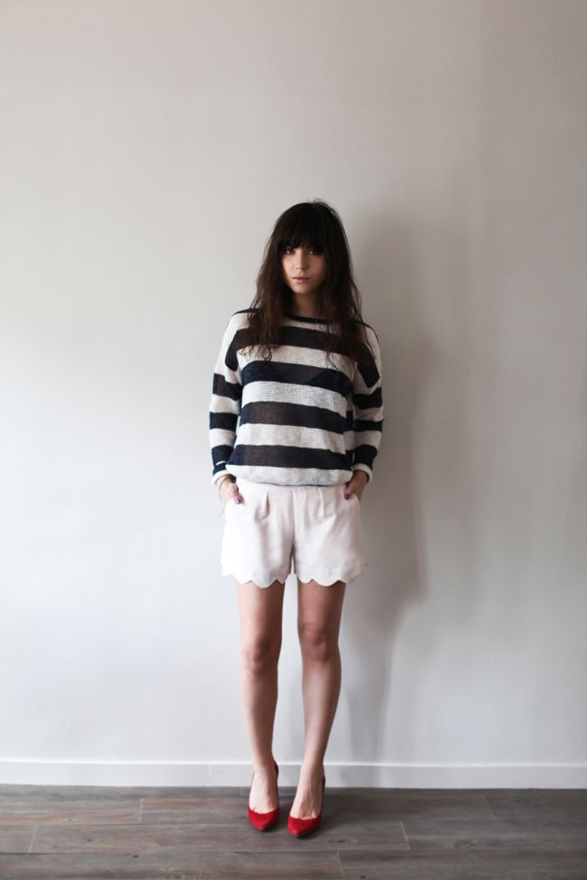 Betty of Le Blog de Betty styled these UO shorts perfectly. #urbanoutfitters