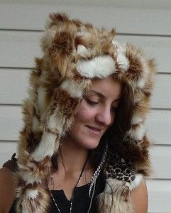 Red fox animal hood by bolli bear. Fun fur/faux fur hood. http://bollibears.com/eshop/product/red-fox-animal-hood/