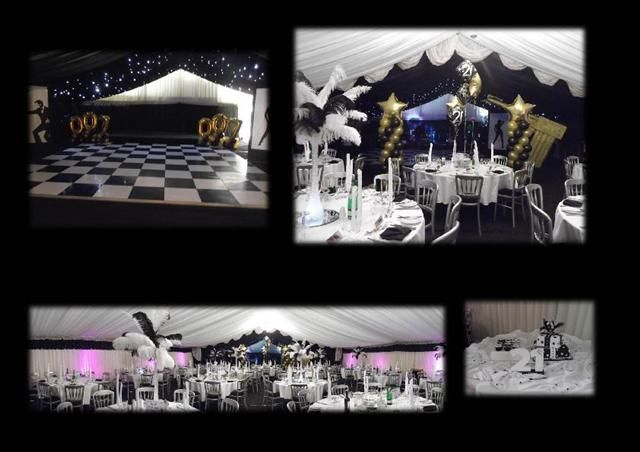 007 theme parties | 007 James Bond Theme Party for 21st Birthday in a Marquee. Balloons by ...