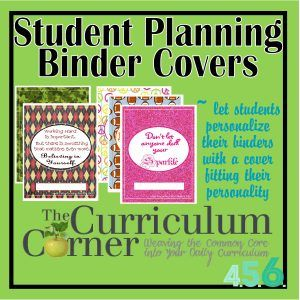 Student Binder Covers