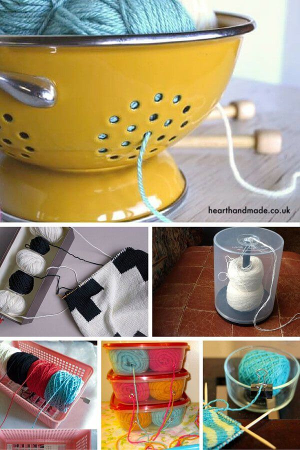 6 Fabulous yarn bowl ideas! - 20 Inasnely Clever Yarn Hacks That Will Make Your Next Project Easier!