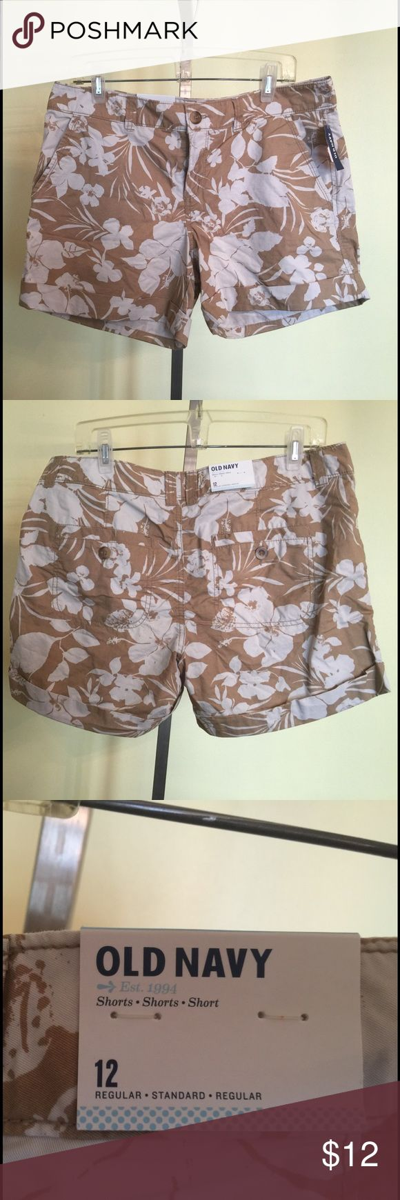 Women's Old Navy shorts size 12.  New. This is a pair of women's Old Navy brand shorts size 12. They are new with tags. If you have any questions please let me know. Thanks! Old Navy Shorts
