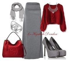 """""""Hijab Outfit"""" by le-hijab-de-doudou ❤ liked on Polyvore featuring Max Studio, Chicwish, Charlotte Russe, Yves Saint Laurent, Gucci, CC SKYE and maurices"""