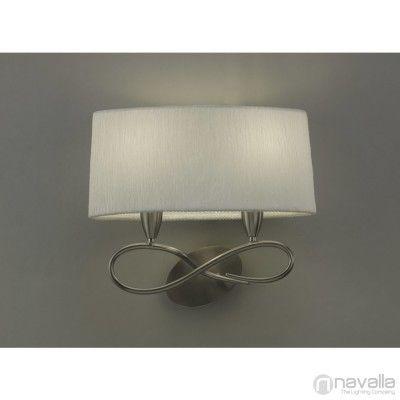 Mantra LUA 3707 szatinált nikkel 2xE27 max. 13W 40x21x36cm