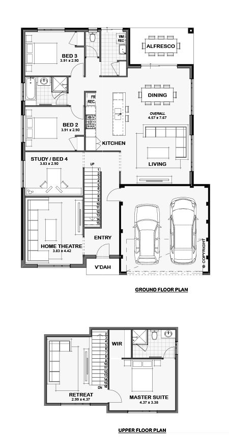 The Avier 15m Two Storey Home Design Perth Wa House