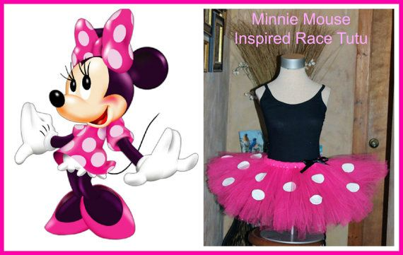 PINK Minnie Mouse Inspired Walt Disney Marathon Race Tutu Skirt by HandpickedHandmade, STARTING AT JUST  $15.00 for adult sizes!! Great sale price!! Ladies womens girls sizes plus sizes also available. Disney Half Marathon, Princess Dash Glass Slipper 10k costume set or more. Great Option. Also available in Red with White dots. Can also be ordered with ribbon finished waist. Custom orders for other characters welcome!
