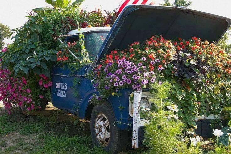 Truck Flower Bed Landscaping With Rocks Amazing Gardens Creative Gardening