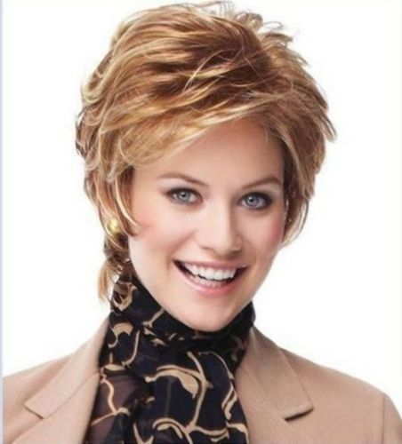 Wigs Fashion Women Party Sexy Short Wavy Curly Golden Natural Synthetic Full Wig