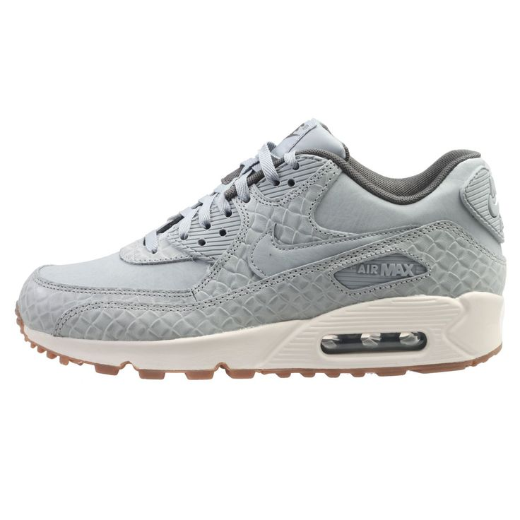 f735f68c04f2fa ... Nike Air Max 90 Premium Womens 443817-011 Matte Silver Running Shoes  Size 8.5 ...
