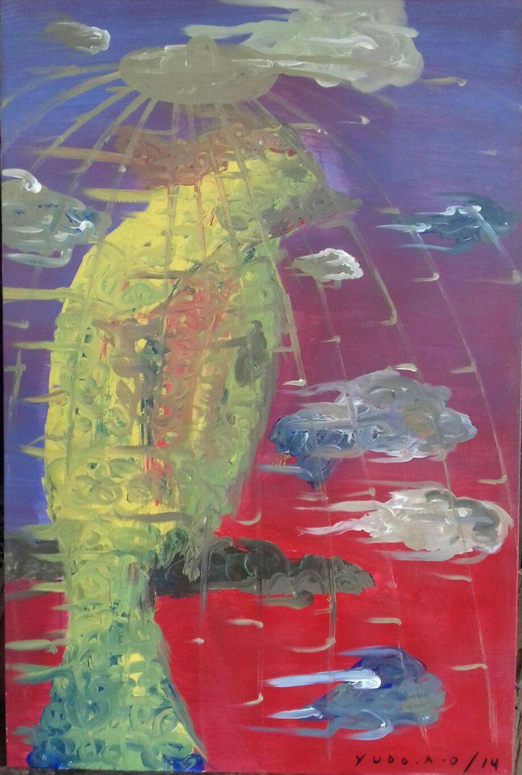 """Ingin bebas"" • 2014 • 120x80cm •acrylic on canvas"