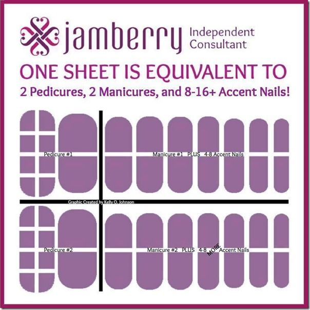 How to get 2 pedicures, 2 manicures AND have tons of accent nails left over! Linda Nichols, Independent Jamberry Nail Consultant - Shop at: http://lindanichols.jamberrynails.net