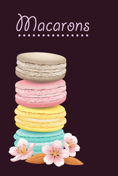 Vector Macarons from my food collection I made for stocks