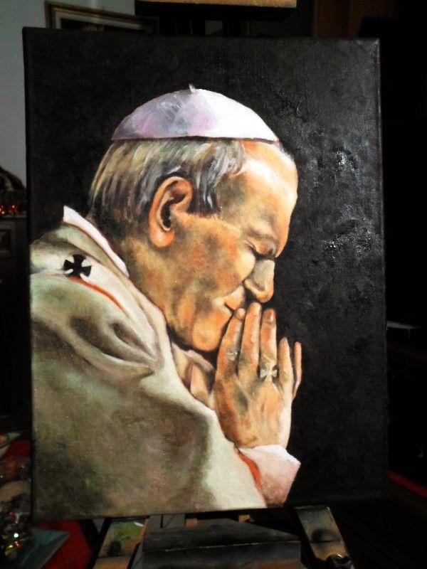 San Giovanni Paolo II Olio su Tela