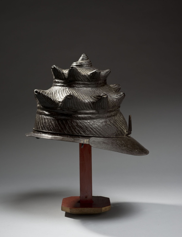 Samurai kawari kabuto helmet in the shape of a seashell ...