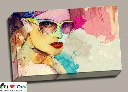 Tablou canvas ilustratie femeie - cod T02