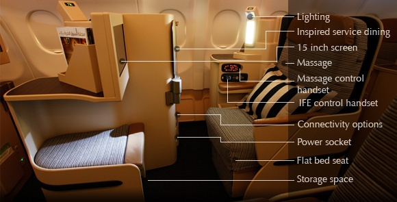 Etihad - Pearl Business Class (flat bed) | Airlines - The ...  Etihad - Pearl ...