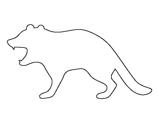 Tasmanian devil pattern. Use the printable outline for crafts, creating stencils, scrapbooking, and more. Free PDF template to download and print at http://patternuniverse.com/download/tasmanian-devil-pattern/