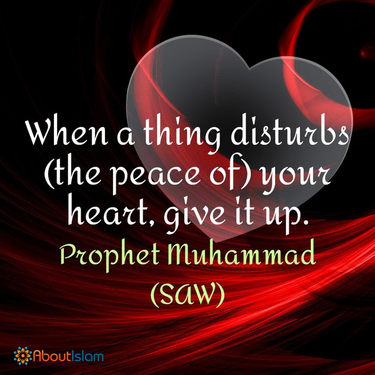 Why allow something to disturb your peace? #letitgo #islamicquotes