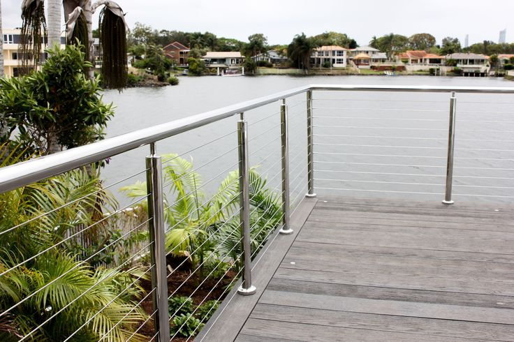 Custom made stainless steel post, welded onsite with nutsert swage stud balustrade system.