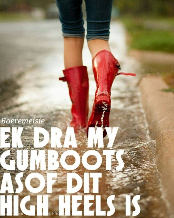 dra gumboots asof dit high heels is
