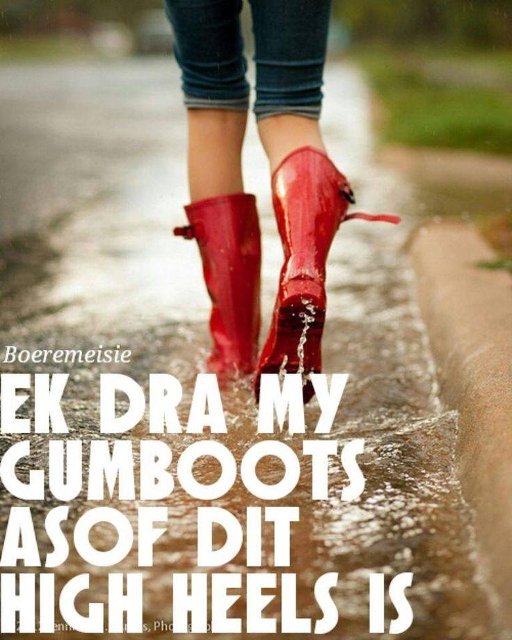 dra gumboots asof dit high heels is