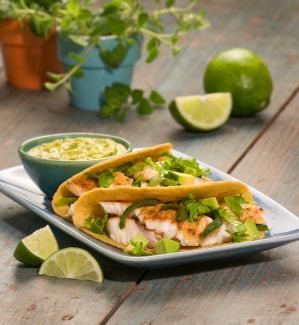 Salmon Tacos | Zesty, Savory & Satisfying | Only 205 Calories for 2 Tacos | For MORE RECIPES, fitness & nutrition tips please SIGN UP for our FREE NEWSLETTER www.NutritionTwins.com