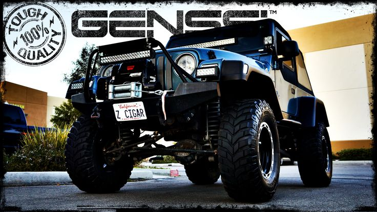 Front Mounted LED light bar Jeep Wrangler