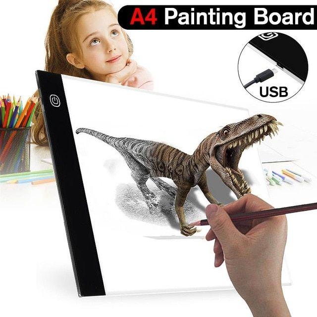 LED Tracing Light Box A4 Drawing Pad Art Tattoo Board Table Stencil Dimmable Box