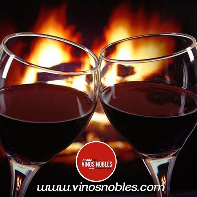 Para esta noche, ¿Qué tal si pides un buen vino en nuestra página web www.vinosnobles.com y lo compartes al calor de la chimenea? #VinosNobles.