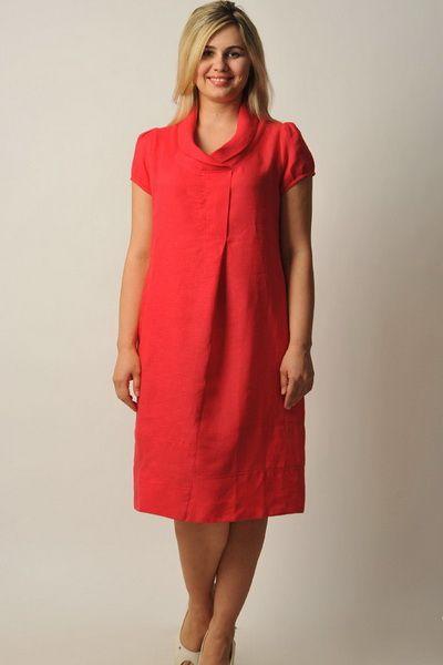 Льняные платья для полных