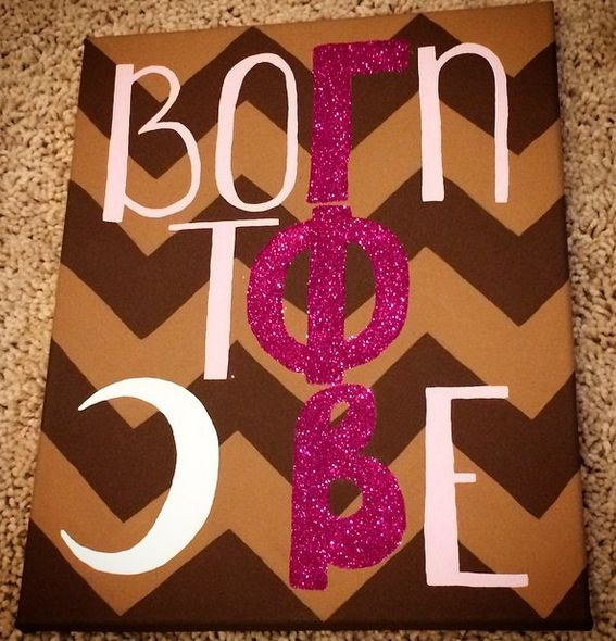gamma phi beta born to be craft | sorority sugar