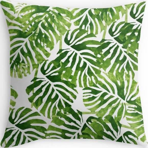 green plant cushions