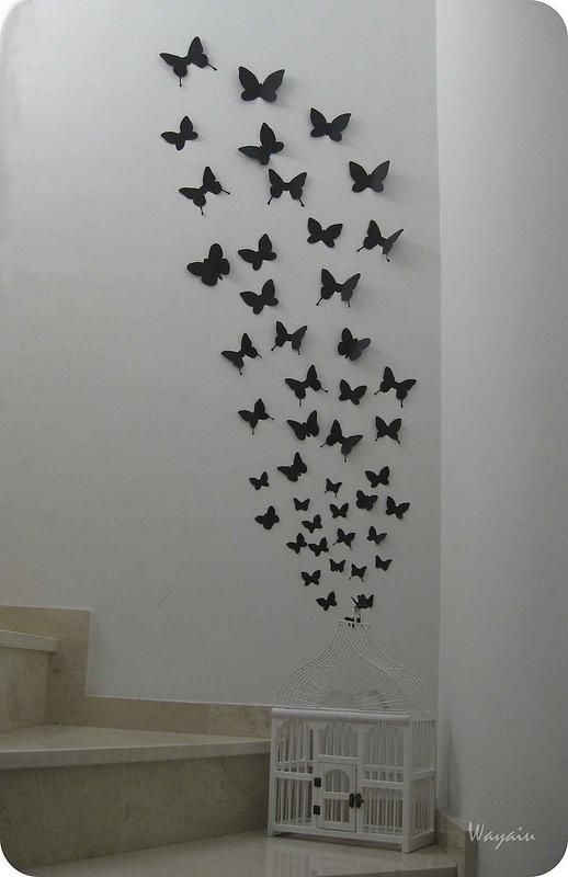 mi pared favorita mariposas de papel de gemma