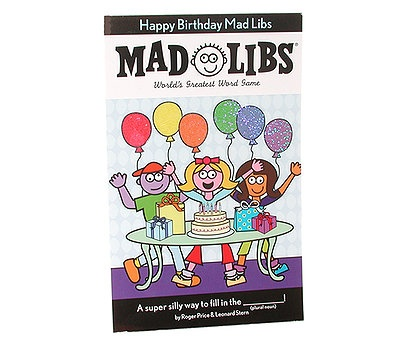 This is a photo of Resource Happy Birthday Mad Libs Printable