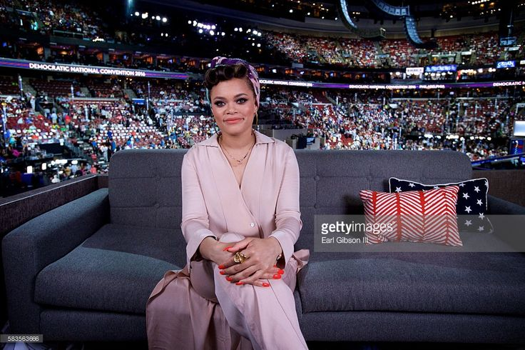 Singer Andra Day poses for a photo at the 2016 Democratic National Convention…