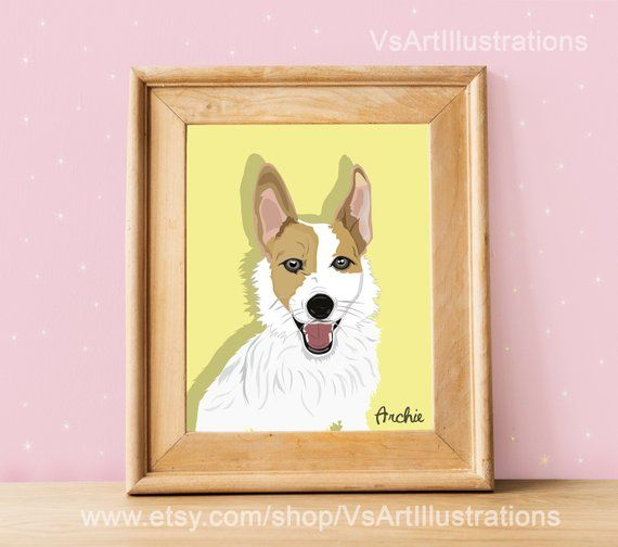Chrismas dog pet lover gift Funny Custom Christmas caricature portrait with pet