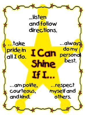 "Star Shine ""Rules"" http://firstgradewow.blogspot.com/search?updated-max=2012-08-24T21:04:00-07:00=10#"