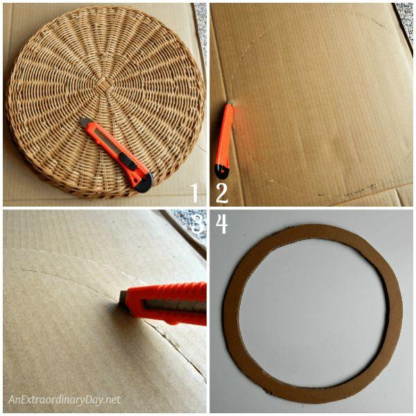 Δημιουργήστε ένα καλάθι για φύλλα βελανιδιάς στεφάνι σας με ένα βαρύ κομμάτι χαρτόνι - AnExtraordinaryDay.net